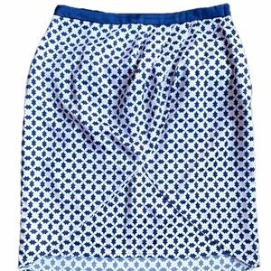 H&M Geo-Print Pastel Tulip Pencil Skirt
